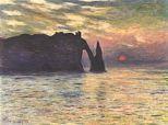 Soleil couchant à Etretat (1883)